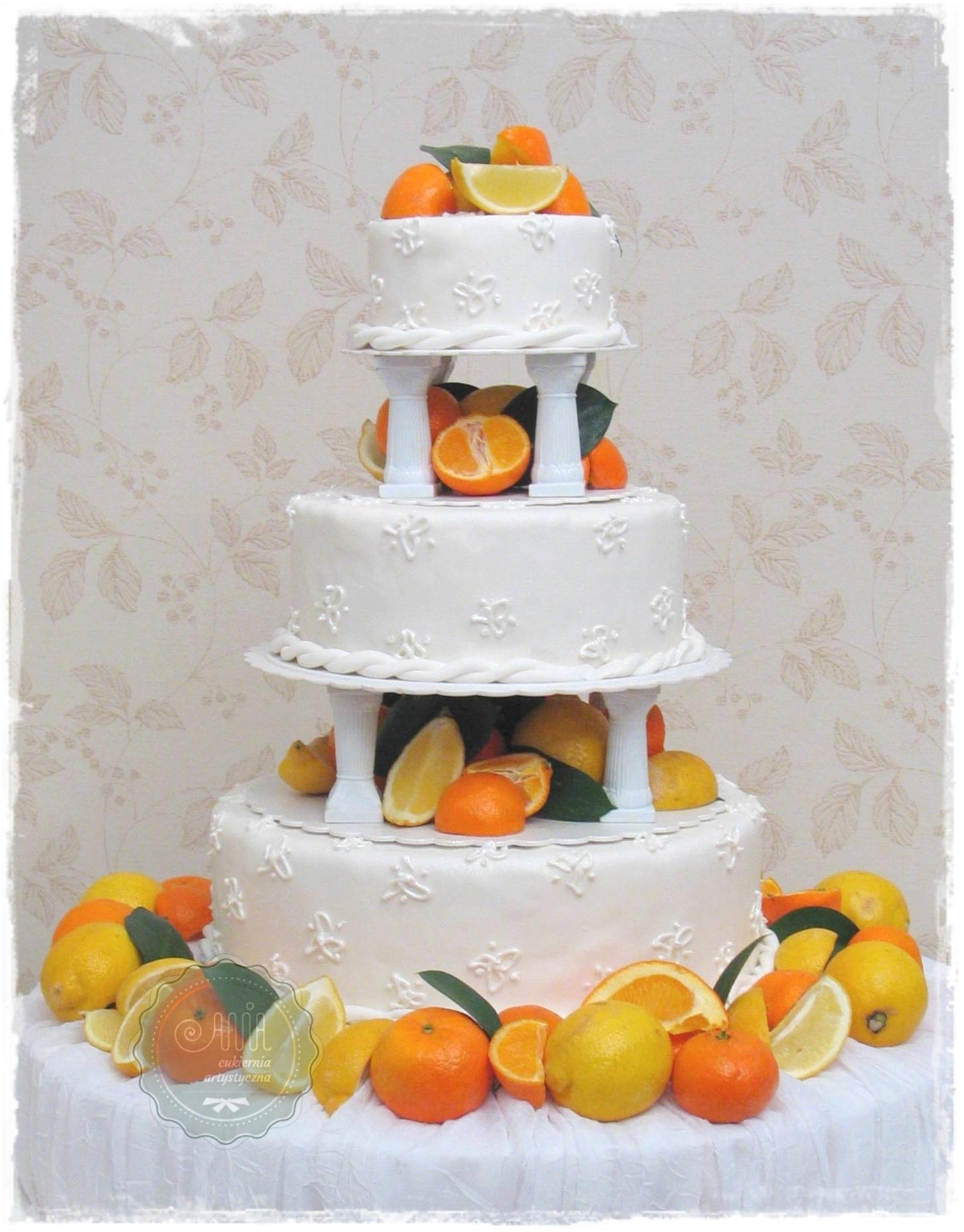 Tort weselny Cytrusy - zdjęcie 1