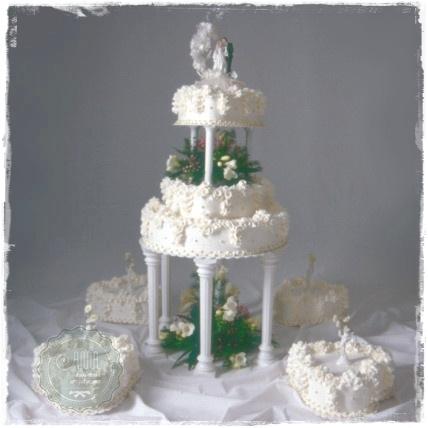 Tort weselny Girlandy - zdjęcie 1