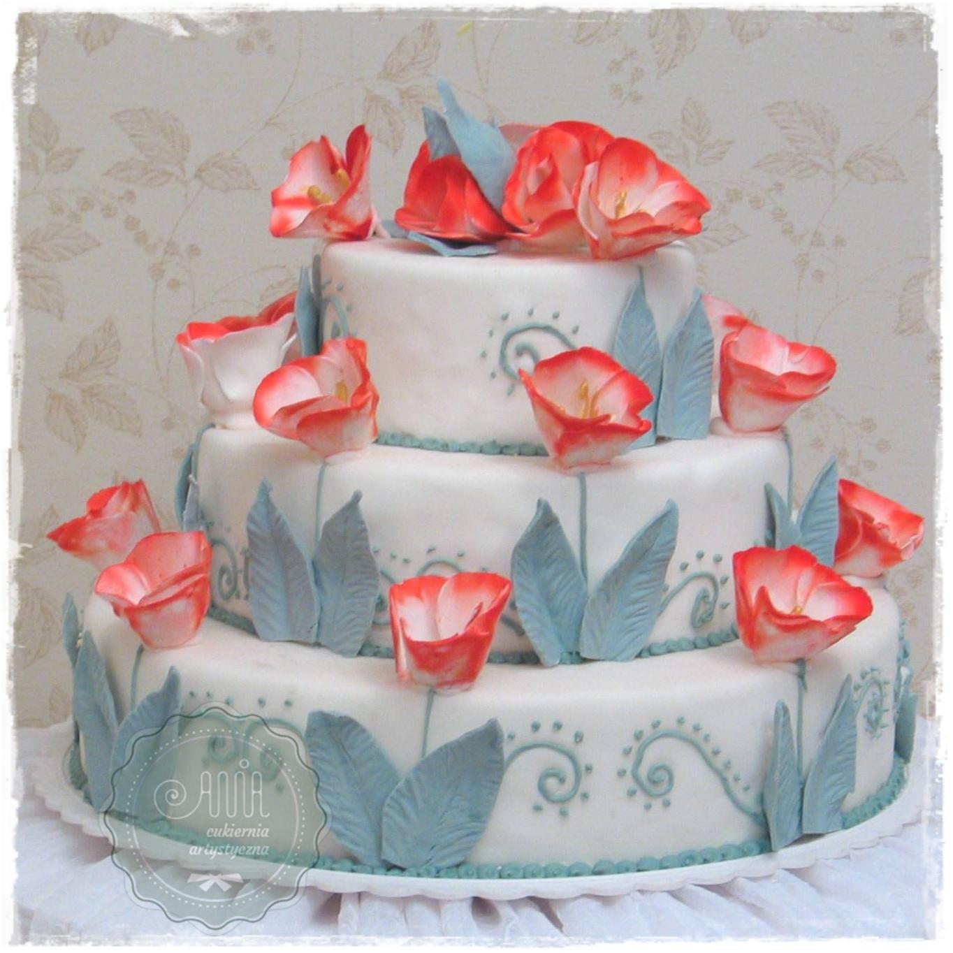 Tort weselny Tulipany - zdjęcie 1