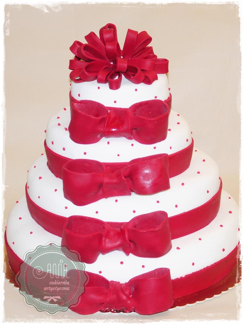 Tort Czerwone Kokardy - zdjęcie 1