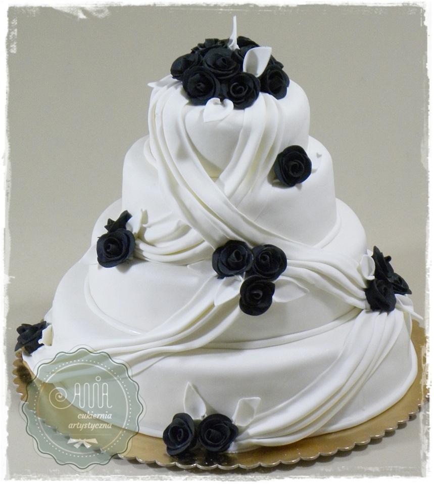 Tort Bella czarne róże - zdjęcie 1