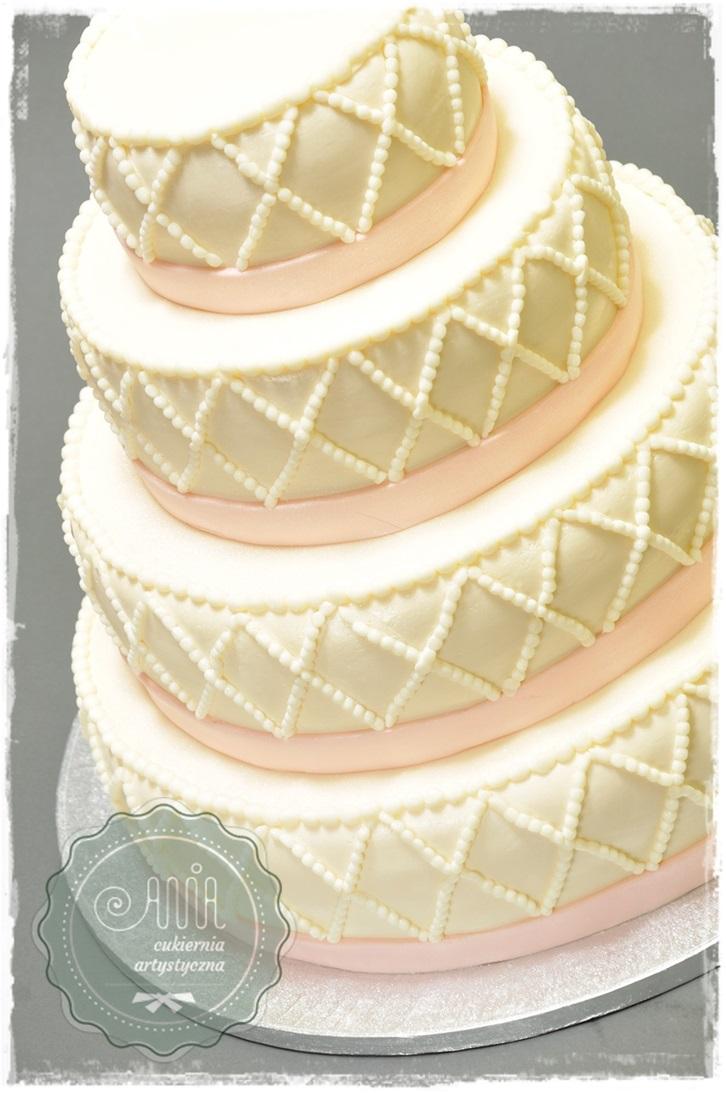 Tort Perłowe romby - zdjęcie 1