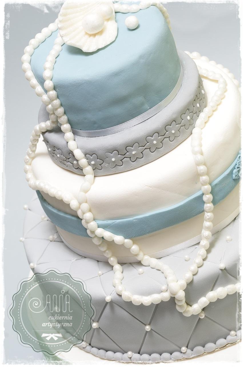 Tort weselny Muszelka - zdjęcie 1