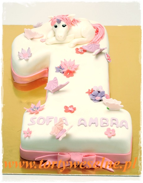 Tort jedynka z konikiem - zdjęcie 1