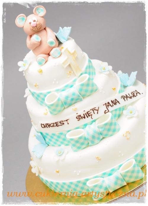 Tort kokardki w kratkę - zdjęcie 1