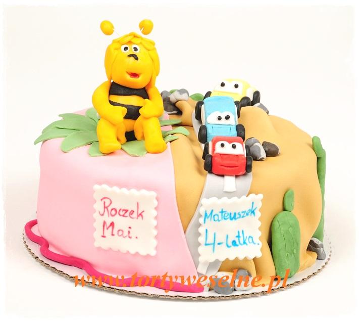 Tort urodzinowy - Maja i samochody - zdjęcie 1