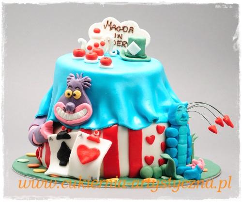 Tort urodzinowy - Alicja w Krainie Czarów - zdjęcie 1