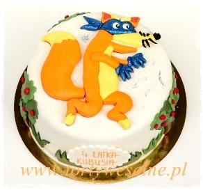 Tort urodzinowy - lis rabuś - zdjęcie 1