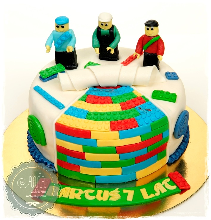 Tort urodzinowy - Klocki Lego - zdjęcie 1