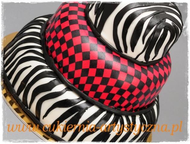Tort zebra i kratka - zdjęcie 1