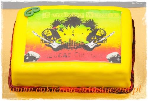 Tort reggae z nadrukiem - zdjęcie 1