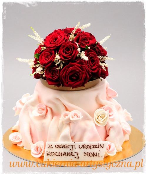 Tort Donna z bukietem - zdjęcie 1