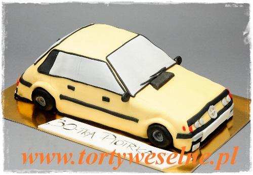 Tort żółty samochód - zdjęcie 1