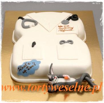 Tort fartuch lekarski z królikiem - zdjęcie 1