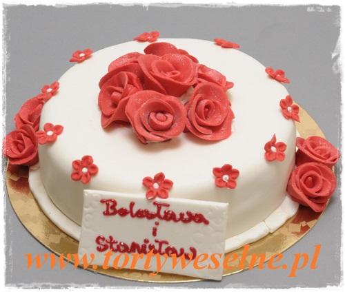 Tort Czerwone Róże - zdjęcie 1