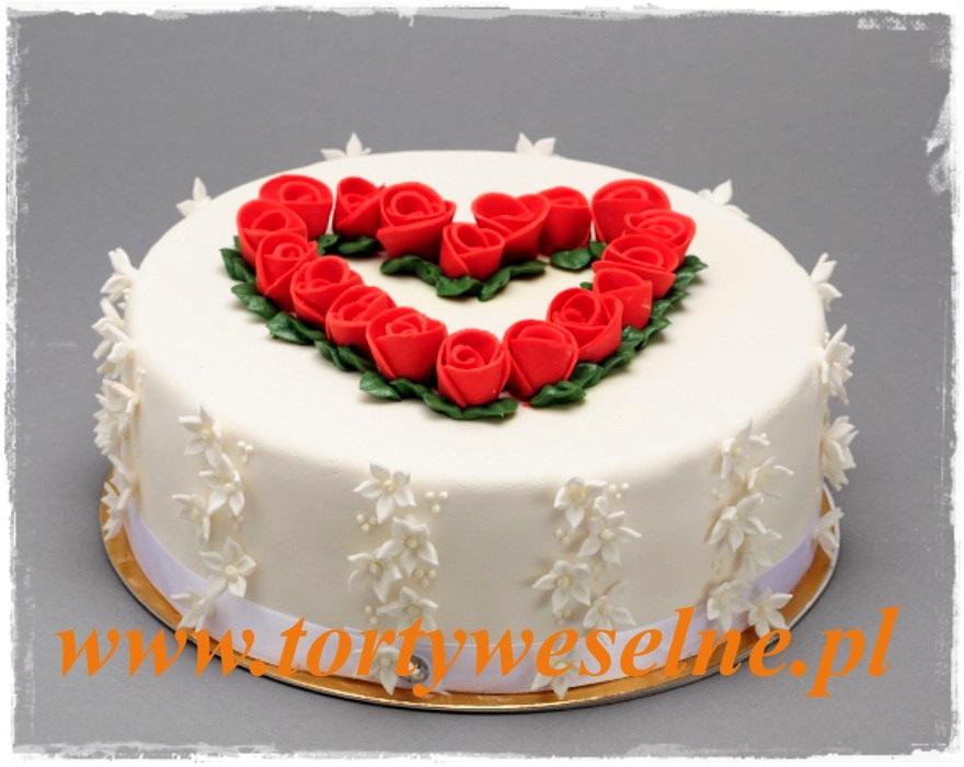 Tort Różane serce - zdjęcie 1