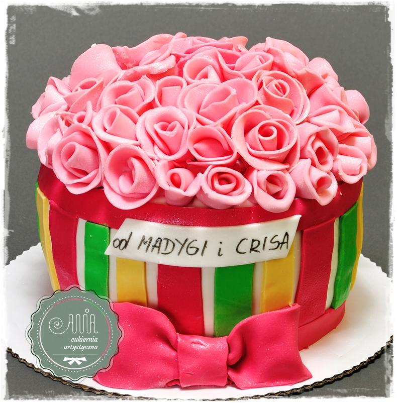 Tort Bukiet Róż - zdjęcie 1