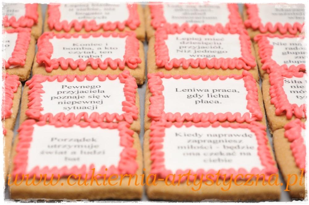 Ciastka zjadalnym napisem - zdjęcie 1
