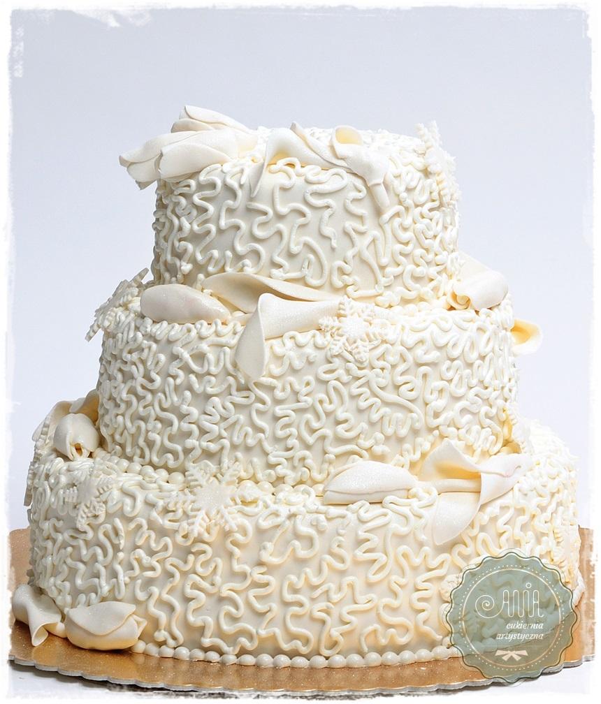 Tort Białe Tulipany - zdjęcie 1