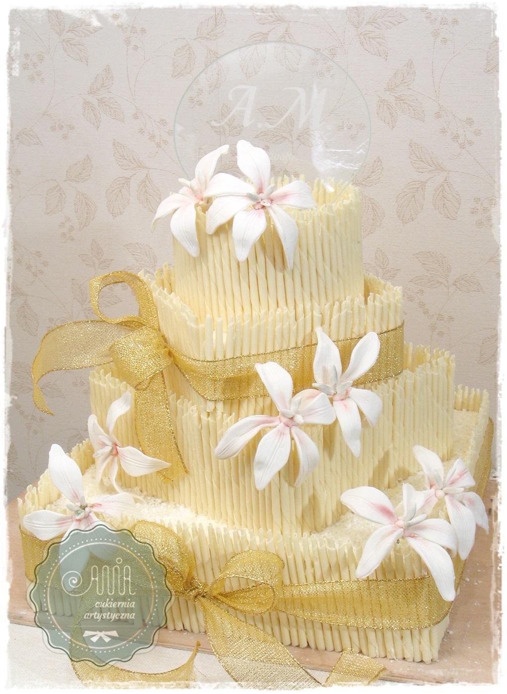 Tort weselny Inez - zdjęcie 1