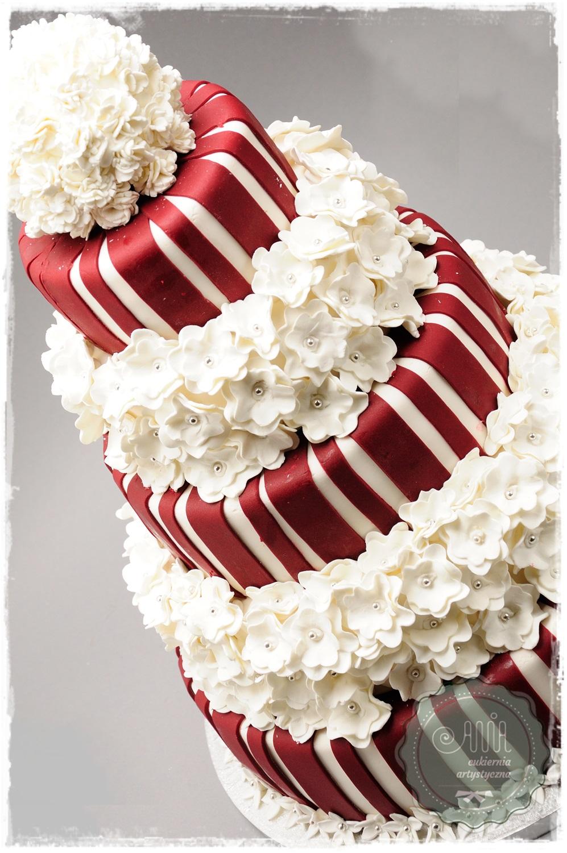 Tort Flower Bordo - zdjęcie 1