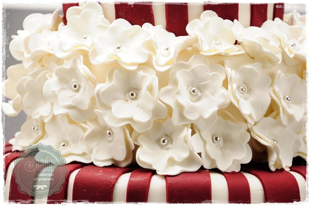 Tort Flower Bordo - zdjęcie 2