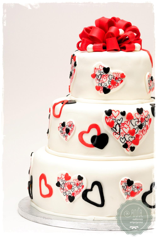 Tort weselny Serca - zdjęcie 1