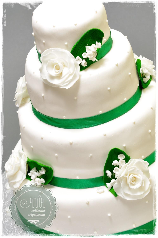 Tort Konwalie i róże - zdjęcie 1