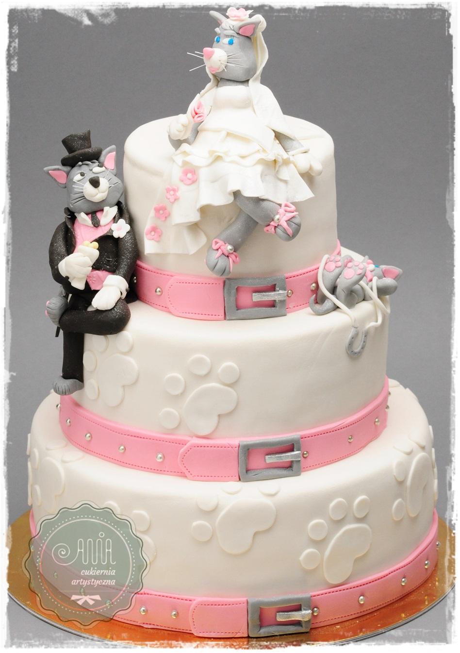 Tort weselny Koty - zdjęcie 1