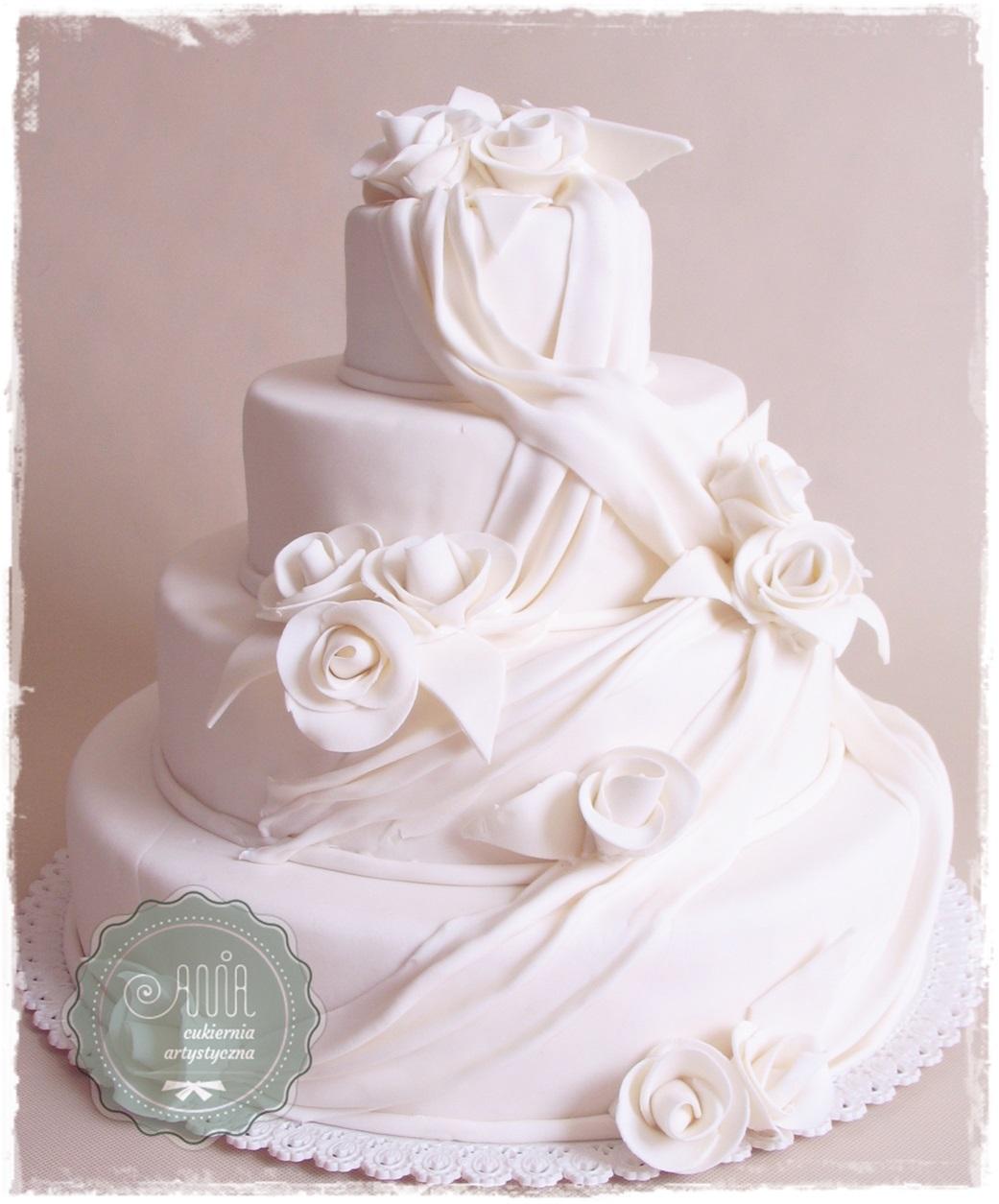 Tort weselny Bella Biała - zdjęcie 1