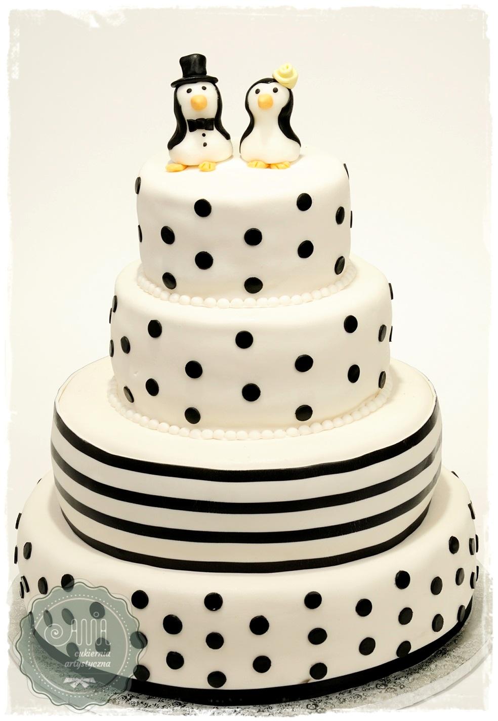 Tort Pingwiny i paski - zdjęcie 1