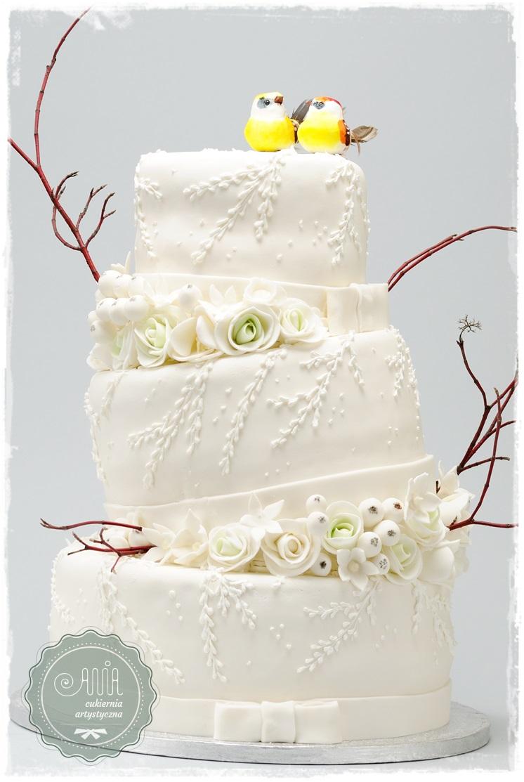 Tort Zakochane sikorki - zdjęcie 1