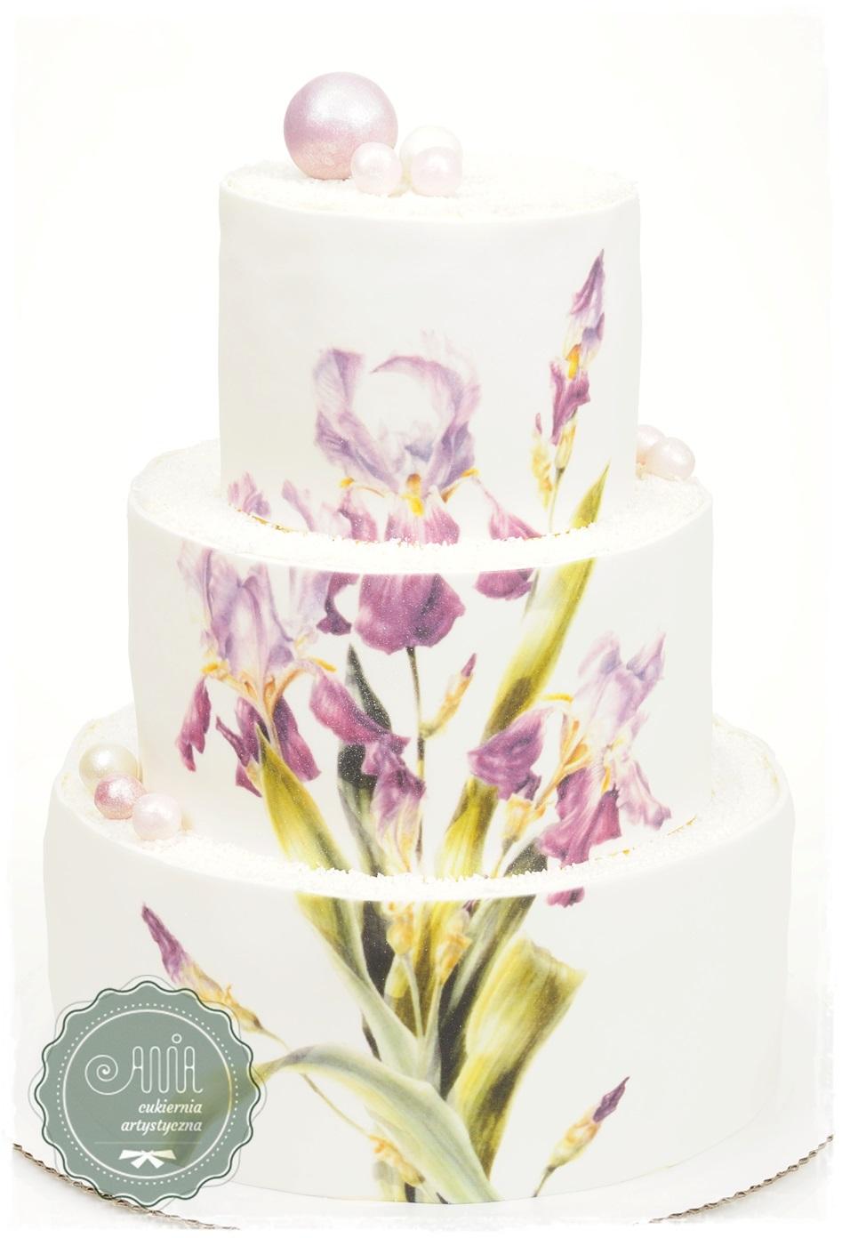 Tort weselny Irysy - zdjęcie 1