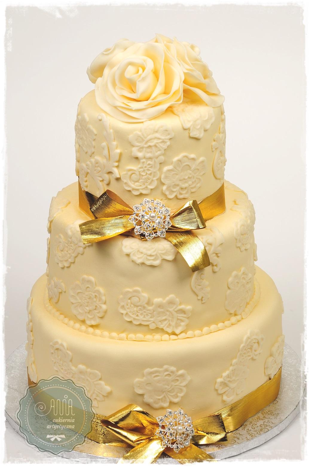 Tort Złote kokardy - zdjęcie 1