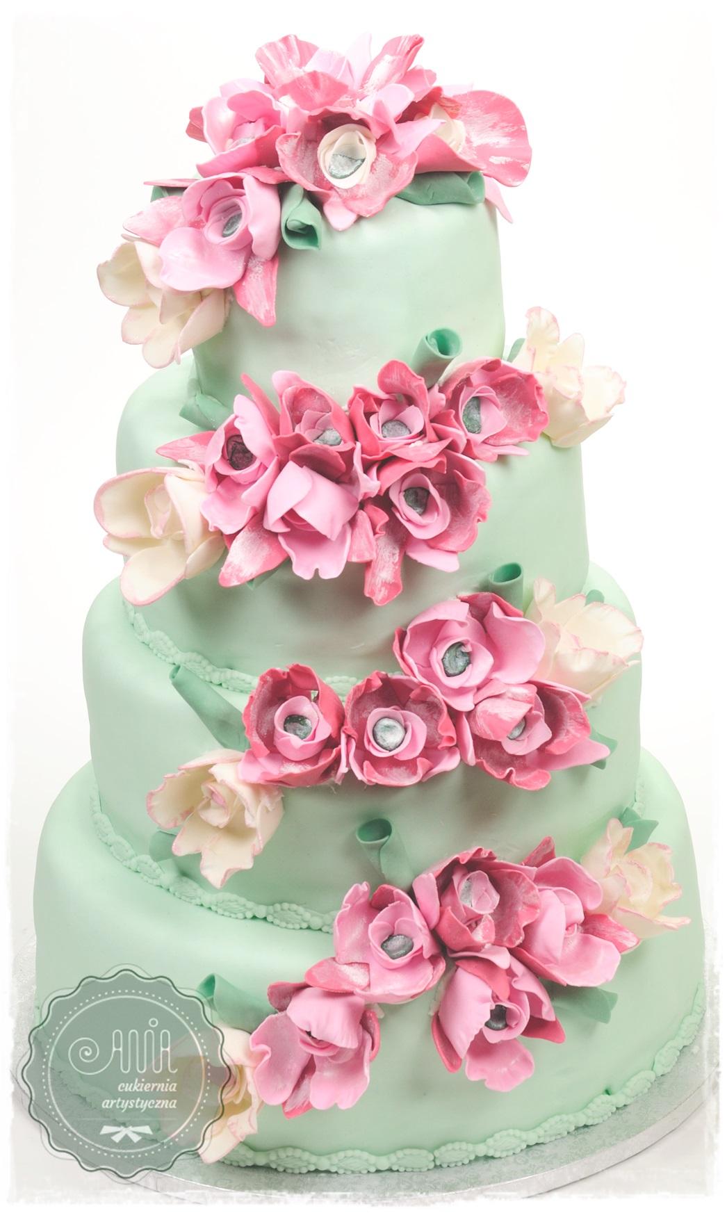 Tort weselny Magnolie - zdjęcie 1
