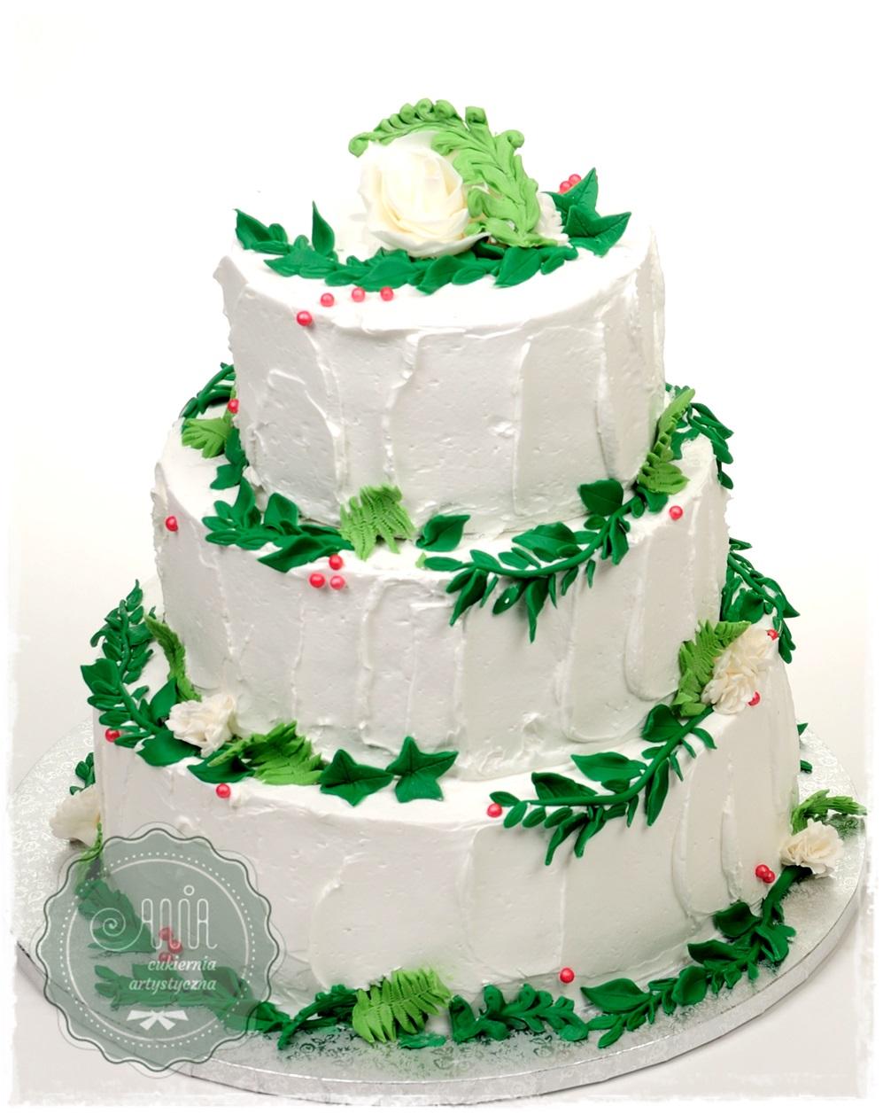 Tort Zielone listeczki - zdjęcie 1