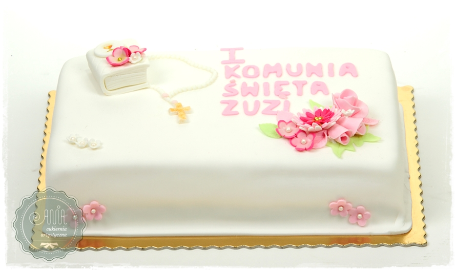Tort Komunia Simple - zdjęcie 1