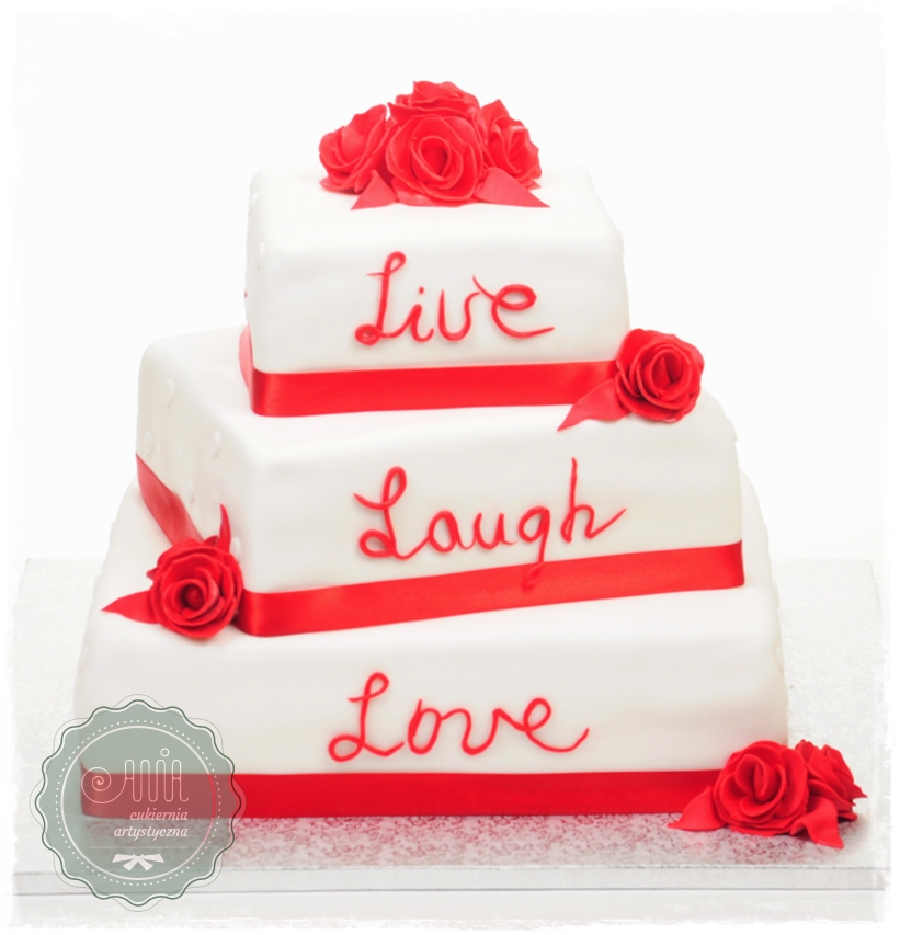 Tort weselny Trzy słowa - zdjęcie 1