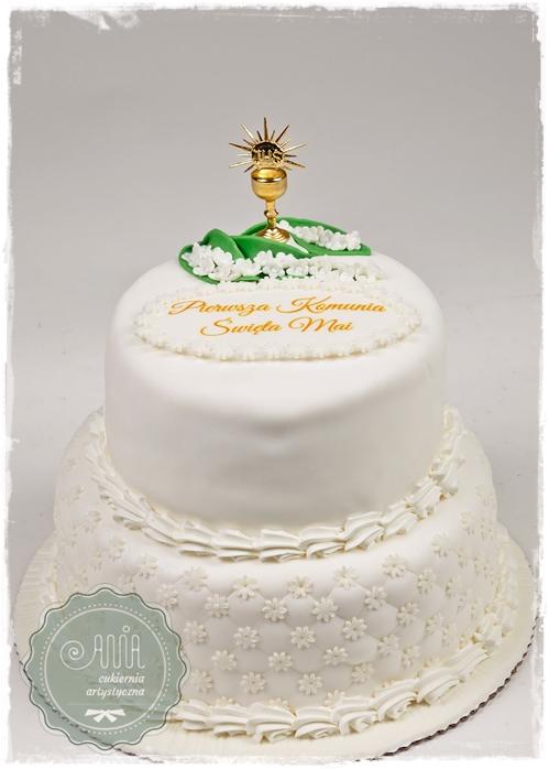 Tort komunijny pikowany - zdjęcie 1