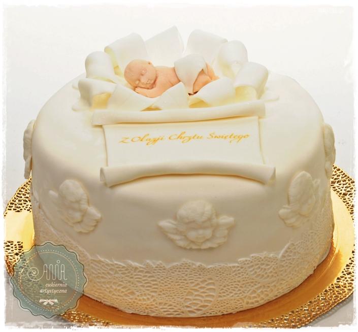Tort z Aniołkami - zdjęcie 1