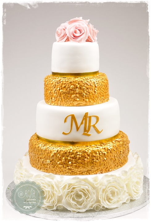 tort Złote cekiny - zdjęcie 1