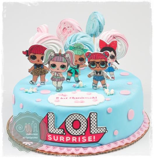 Tort LOL Suprise z bezikami - zdjęcie 1