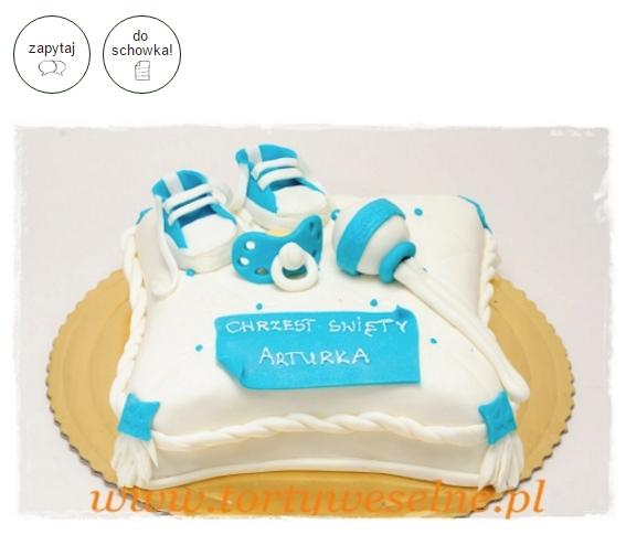 tort na chrzciny - tort dla dziecka